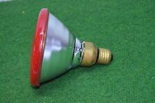 ANCIENNE AMPOULE LAMPE PHILIPS 220 V 100 W COULEUR ROUGE DISCO PAR 38 RAMPE BAL