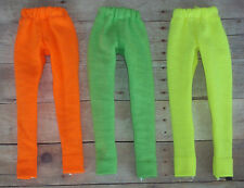 3 pair Barbie Leggings ~ Orange, Green, Yellow ~ Fashion Doll Clothes