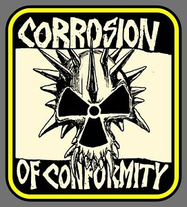 """4.25"""" Corrosion of Conformity """"Spike"""" vinyl sticker. Punk Rock decal for guitar."""