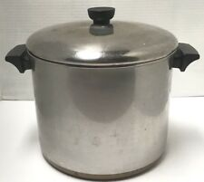 Revere Ware 8 Qt Stock Pot COPPER CLAD Stainless Steel Pre 1968 KETTLE LID 901