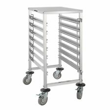 More details for vogue gastronome racking trolley with 7 levels 4 bumpers and 2 brakes