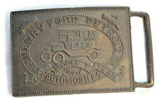 Henry Ford Detroit Automobiles Limited Edition Brass Metal Belt Buckle 3""