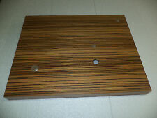 PLINTH UPGRADE FOR  REGA TURNTABLES RP1,Planar 2,RP3 etc +Motor Pulley zebrawood