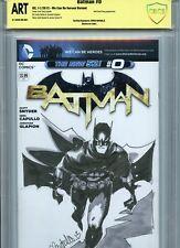 BATMAN Sketch cover art by CHRIS BACHALO CBCS SS ART not CGC DC Justice League