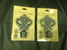 Vintage decorative metal finials by the artifactory 2pc