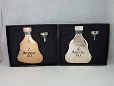 Hennessy X.O 2x Hip Flask s Rose Gold And Sliver (Light Rose Gold) 5oz NEW
