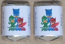 30 PJ MASKS BIRTHDAY PARTY PERSONALIZED NUGGET CANDY WRAPPER LABELS FAVORS