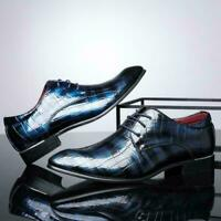 Mens Faux Leather Shoes Smart Wedding Italian Formal Office Dress Work Plus Size