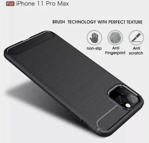 Shockprof iPhone 11 Pro Max  Mobile Phone Case Carbon Fiber Protective Cover