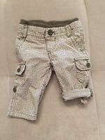 Baby Gap Pants Shorts Size 0-3 Month  White Green Pull Up
