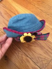 New ListingPleasant Company American Girl Today 1995 Blue Denim Sunflower Hat