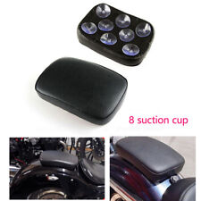8 Suction Cup Rectangular Pillion Passenger Pad Seat For Motorcycle Motorbike