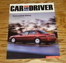 2002 Honda Accord LX Car and Driver Foldout Sales Brochure 02