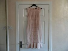 ** NEW ** LIPSY NUDE SLEEVELESS LACE DETAIL DRESS SIZE 10 - BNWT
