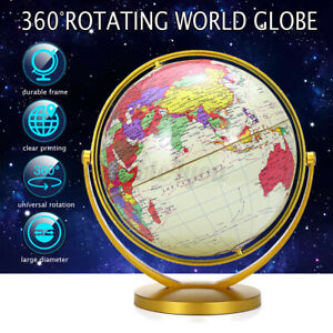 32CM 720° Ocean World Globe Map Earth w/ Stand Geography Table Educational Toy