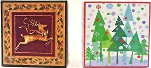 Lindy Bowman Christmas Keepsake Jewelry Boxes  2 Sets Of Nesting Boxes