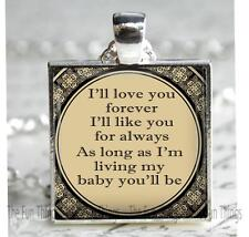 """Love You Forever My Baby You'll Be Pendant Charm Mother Child Love Gift 1"""""""