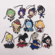 T235 11pcs/set Anime Servamp Kuro Hyde Adorable Rubber Keychain Keyring