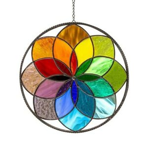 20cm Rainbow Stained Hanging Pendant Clearance For Outdoor Wall Art Sun Decor