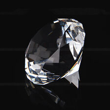 40mm Crystal Diamond Cut Glass Jewelry Paperweight Wedding Home Decor Ornaments