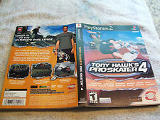 PLAYSTATION 2 INSERT TONY HAWK'S PRO SKATER 4