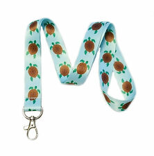Sea Turtle Lanyard Key Chain Id Badge Holder
