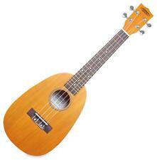 Ukulele Guitare Hawaii Instrument a Corde Nylon Etui Forme d'ananas Ecrue Set