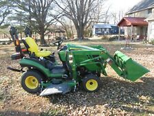 "John Deere compact tractor with Loader & 60"" auto-connect mower- 4 hours of use"