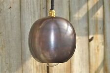 Small Danish ball light in antiqued copper finish hanging pendant lamp DBG3