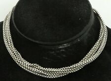 David Yurman Sterling silver/14K gold high fashion multi-strand chain necklace