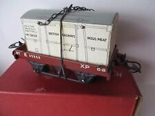 HORNBY 'O' GAUGE FLAT TRUCK WITH INSUL-MEAT CONTAINER - BOXED - IMACULATE