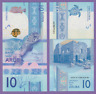 [USA Seller] UNC Mint 2019 10 Aruba Florins Banknote  FREE SHIPPING