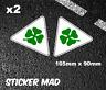 Trèfle Alfa Romeo Aile Stickers Vinyle Brillant (Haute Qualité) Gtv Gta Course