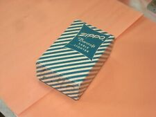 VINTAGE 1950's BARCROFT GREEN CANDY STRIPE BOX W/ BAG & PAPERS