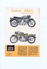 MOTO GUZZI Lodola 235 GT 1961 depliant ORIGINALE genuine motorcycle brochure