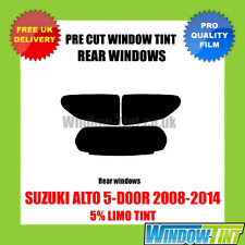 SUZUKI ALTO 5-DOOR 2008-2014 5% LIMO REAR PRE CUT WINDOW TINT