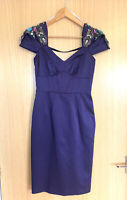 Karen Millen Ladies Dress 8 Evening Party Cocktail Beaded Fitted Occasion Wiggle