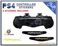 6x PS4 Cyberpunk Lightbar Autocollant Led Lumineuse Manette Playstation Stickers