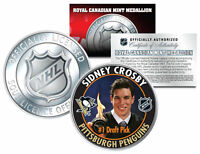 2005-06 SIDNEY CROSBY Royal Canadian Mint Medallion NHL DRAFT PICK Rookie Coin