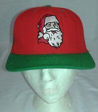 Vintage American Needle Santa Blockhead Snapback Hat Santa Claus Christmas