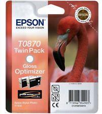 2 x Epson t0870 tinta gloss optimizador para Stylus Photo r1900 brillo amplificador