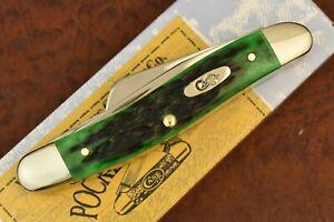 CASE XX USA 2020 POCKET WORN BERMUDA GREEN BONE STOCKMAN KNIFE 6318 SS NICE