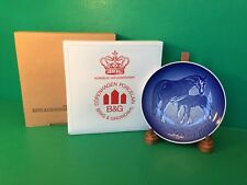 NEW 1972 B&G Mothers Day Danish Plate HORSE w/ FOAL Bing&Grondahl ORIGINAL BOXES