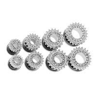 1 Paar Silber Ohr Tunnel Mit Kristall Straß Verschönerung Ohr Piercing Schmuck