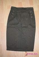 Pencil Skirt Bleistift Rock oliv Military 50s figurbetont Collectif Sale
