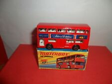 Rare Matchbox Sup/fast #17-The Londoner In Red With Silver Jubilee labels,NMINMB