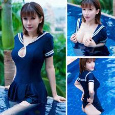 Japanese School Girl Students Sailor Uniform Sexy Swimwear Costume Skirt Cosplay