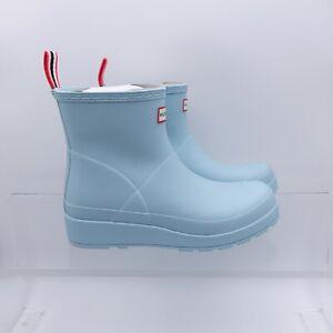 Size 9 Women's Hunter Original Play Short Rain Boots WFS2020RMA Eucalyptus Blue