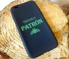 PATRON Tequila IPHONE 6 CASE Vintage Soft SYLICON Case NEW Black/Green