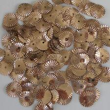 Sequins Sunburst/Starburst/Wheels Paillette Gold Copper 10mm ~100 pieces Loose